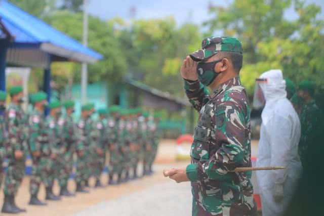Komandan Korem 174 Merauke Kunjungi Satgas Pamtas RI-PNG Yonif Mekanis 516/CY