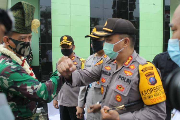 Kapolresta Deli Serdang Sambut Kunker Danrem 022/PT ke Kodim 0204/DS