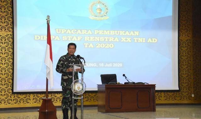 Seskoad Buka Pendidikan Perwira Staf Perencanaan Strategis ke-XX TA 2020 di Bandung
