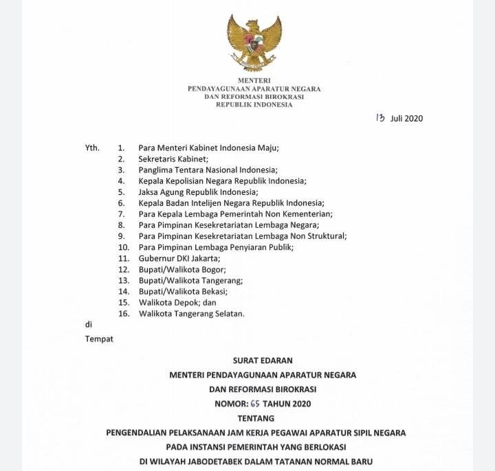 Kurangi Penumpukan Penumpang, Menteri PAN RB Minta Instansi Laksanakan Sistem 'Shift'