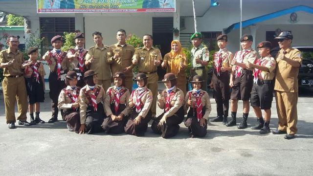 Camat Lepas 12 Peserta Jamnas di Cibubur Perwakilan Kecamatan Lubuk Pakam