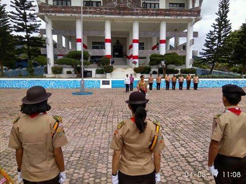 Wabup Tobasa Berangkatkan Kwarcab Pramuka ke Raimuna Nasional Cibubur