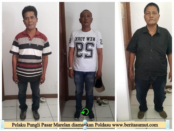 Kepala Pasar Marelan dan Pengurus P3TM Ditangkap Poldasu Karena Pungli