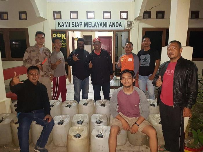 Polres Nisel Sita 700 Liter Tuak Suling Saat Operasi Pekat