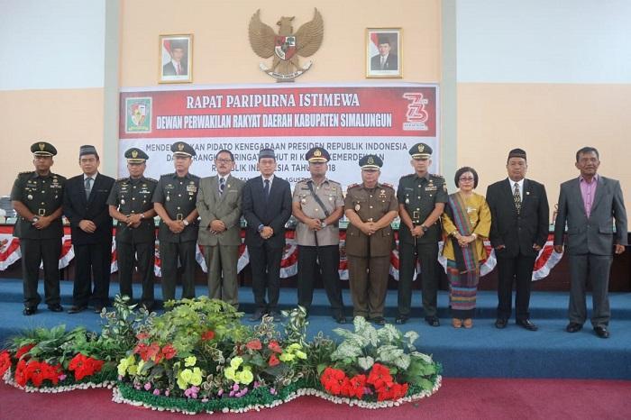 Kasrem 022/PT Hadiri Rapat Paripurna DPRD Simalungun