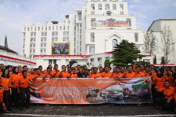 Pj Gubsu Launching Gerakan Sumut Peduli Lombok