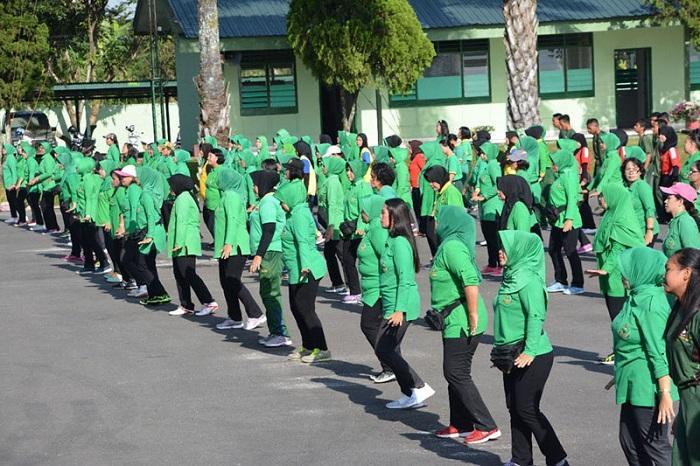 Korem 022/PT Laksanakan Latihan Gabugan Tari Gemu Famire