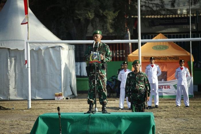 Danrem 162/Wira Bhakti Pimpin Upacara HUT RI ke-73 di Pengungsian Lombok
