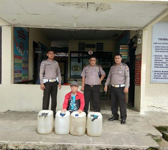 Polres Nisel Kembali Gagalkan Peredaran 140 Liter Tuak Suling