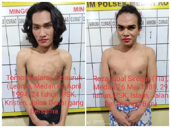 Kerap Merampok Pelanggannya, Dua Waria Ini Ditangkap Polisi