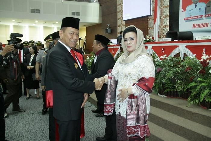 Pj Gubsu Ucapkan Selamat kepada Wakil Ketua DPRD Sumut Sri Kumala