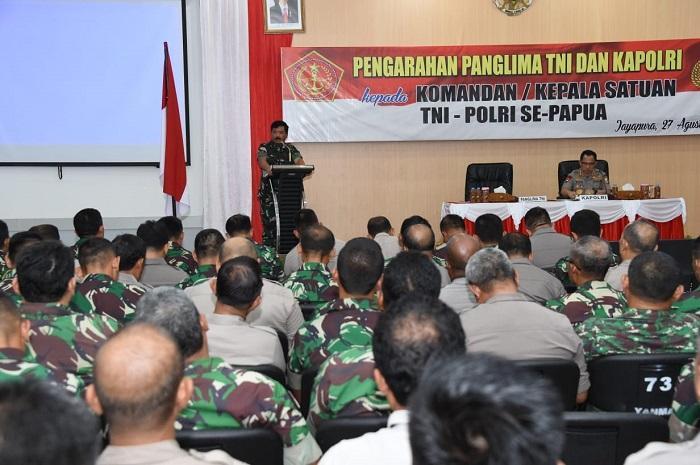 Prajurit TNI dan Polri Diminta Jaga Sinergitas di Lapangan