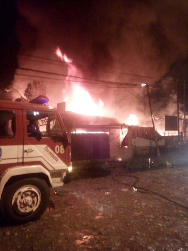 Panglong di Pasar VII Marindal Terbakar