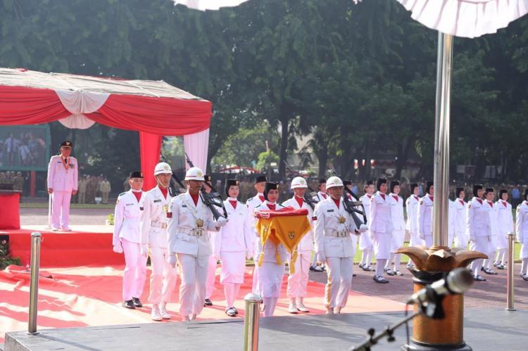 Kapolrestabes Medan Hadiri Upacara Kemerdekaan di Lapangan Benteng
