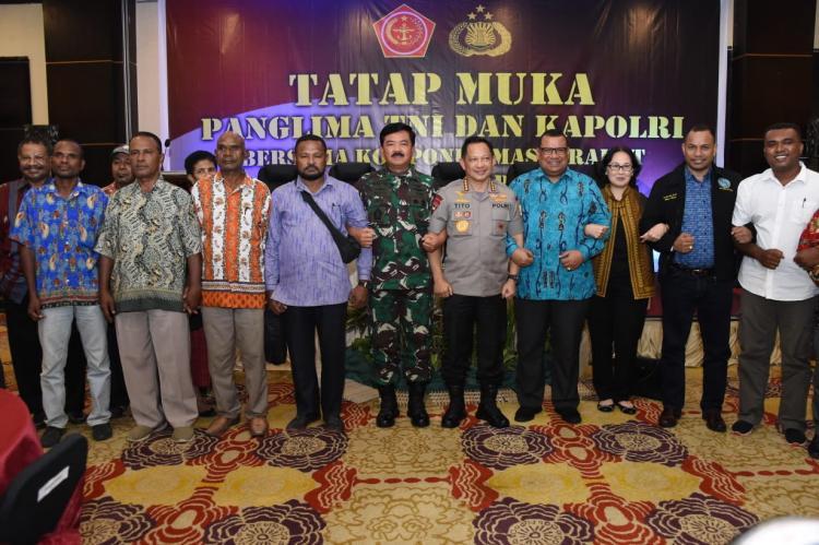 Panglima TNI Bertatap Muka dengan Tokoh Masyarakat Jayapura
