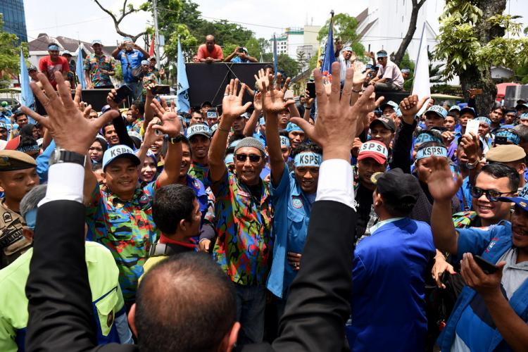 Gubernur Sumut Edy Rahmayadi Sosok Pemimpin Yang Akrab dengan Pengunjuk Rasa