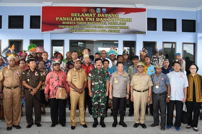 Panglima TNI Tatap Muka dengan Para Tokoh dari Papua