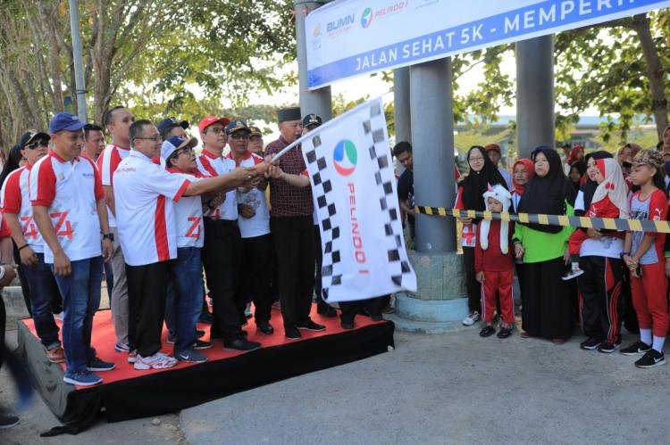 Meriahkan HUT RI, Pelindo1 dan Dua BUMN Gelar Jalan Sehat