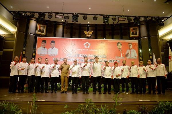 Pelantikan PMI Kota Medan 2019-2024, Gubsu Ingatkan Pentingnya Ketersedian Darah di Sumut