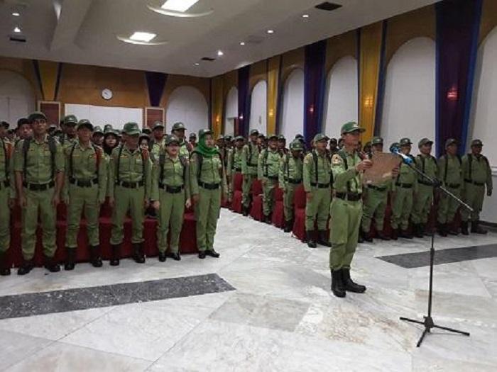 Satpol PP Pemko Medan Lantik 147 Personil Satlinmas
