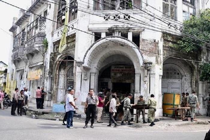 Aset Bangunan Bersejarah di Jalan Hindu Dibersihkan Pemko Medan
