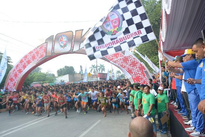 6000 Pelari Ikuti Lomba Marathon 10K dari Pemkab Deli Serdang