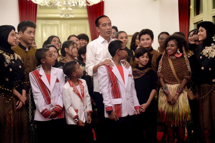 Sejumlah Talenta Indonesia Isi Acara Talenta Muda Bhinneka Tunggal Ika di Istana