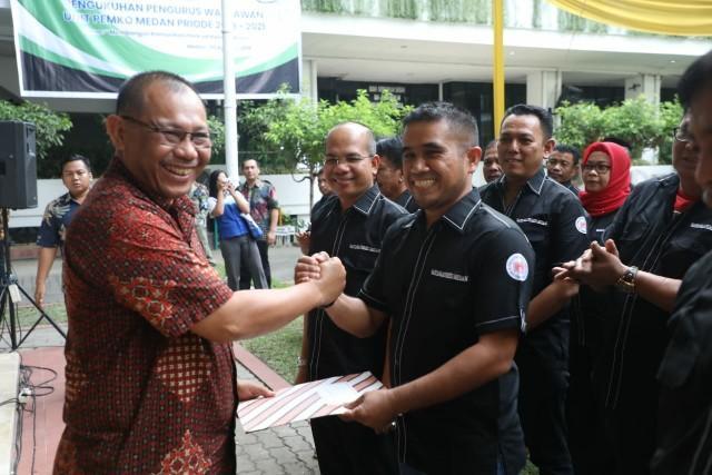 Wartawan Unit Pemko Medan Dikukuhkan Wali Kota Medan