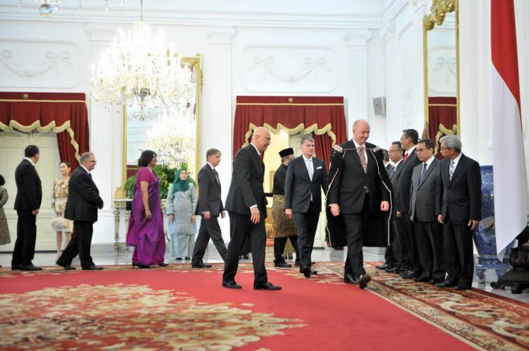 Ucapkan Selamat Kepada Presiden Jokowi, 12 Dubes Negara Sahabat Berharap Tingkatkan Kerjasama
