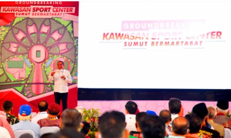 Pemprov Sumut Mulai Pembangunan Sport Center, Gubernur Edy Rahmayadi Tekankan Kemaslahatan Pembangunan Berkepanjangan