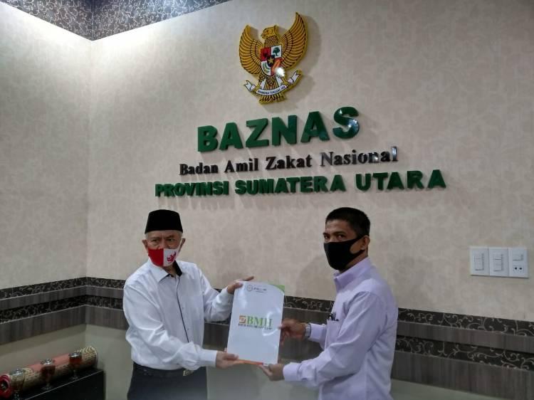 BMH Sumut Serahkan Laporan Semester ke Baznas