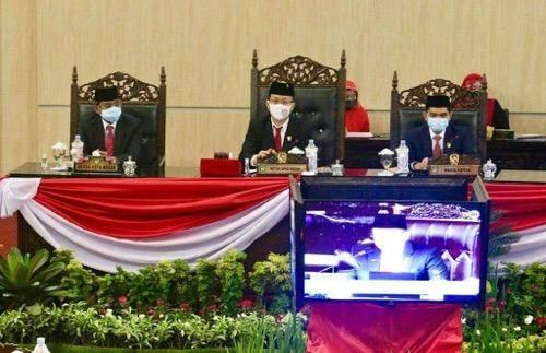 Sekda Kota Medan Wiriya Al Rahman Hadiri Rapat Paripurna Istimewa DPRD, Dengarkan Pidato Presiden Jokowi