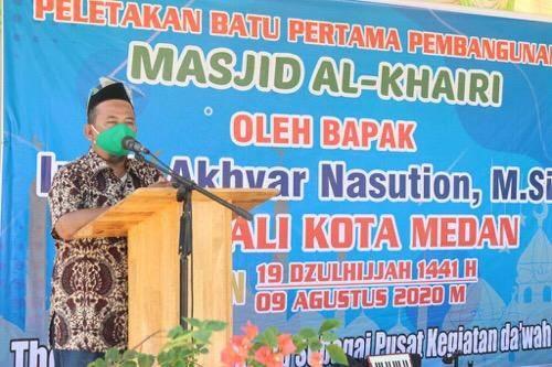 Pemko Medan Apresiasi Pembangunan Masjid Al Khairi di Jalan Bromo