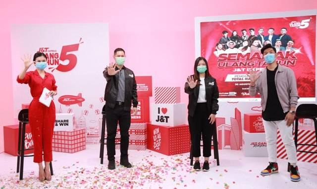 J&T Express Gelar Semarak Ulang Tahun ke-5, Bagi-bagi Hadiah Total Rp4 Miliar