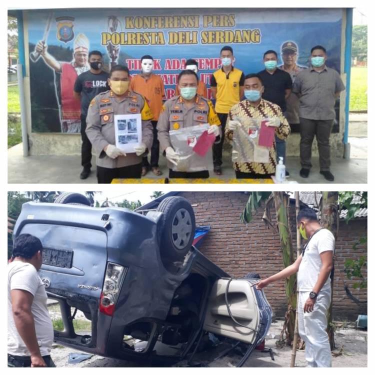 Polisi Tangkap Kadus dan Warga Perusak Mobil BNNK Deli Serdang di Pantai Labu