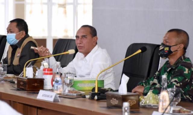 Gubernur Sumut Siapkan Upaya Pengendalian Covid-19 di Kawasan Mebidang