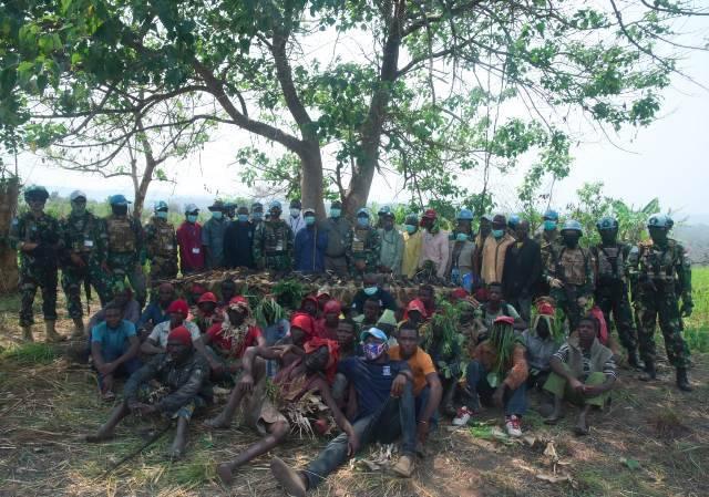 Satgas TNI Konga di Tanah Afrika Berhasil Turunkan 32 Milisi di Republik Demokratik Kongo