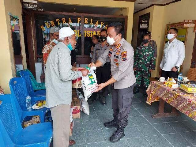 Kapolresta Deli Serdang Ajak Tokoh Masyarakat Kecamatan Biru-Biru Bersama Patuhi Protokoler Kesehatan