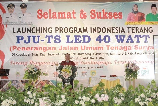 Launching Program Indonesia Terang, Wakil Walikota Gunungsitoli Imbau Masyarakat Ikut Jaga LPJU