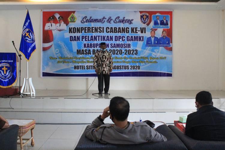 Kepala Kankemenag Tawar Tua Simbolon Hadiri Konfercab VI Pelantikan DPC GAMKI Samosir Periode 2020-2023
