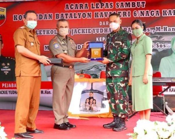 Pemko Medan Hadiri Lepas Sambut Komandan Batalyon Kavaleri 6/Naga Karimata