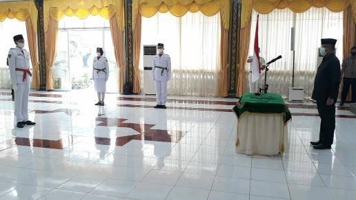 Asmum Renward Parapat Kukuhkan Paskibraka Kota Medan, Siap Kibarkan Bendera di tengah Pandemi Covid-19