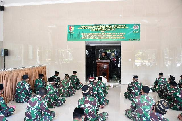 Rayakan Tahun Baru Islam di Korem 082/CPYJ, Danrem Minta Prajurit TNI