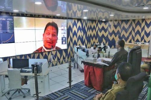 Sekda Kota Medan Mengikuti Rapat Koordinasi Monitoring dan Evaluasi MCP 2020