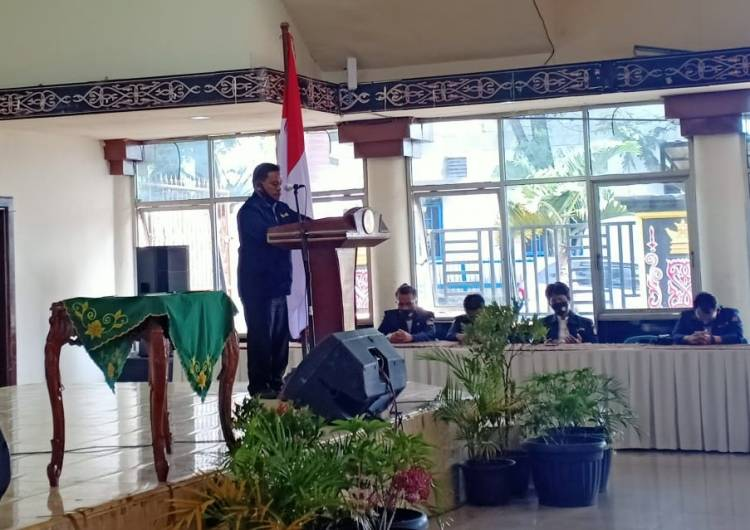 Pengukuhan Pengurus Karang Taruna Kabupaten Dairi, Ini Pesan Bupati Eddy Keleng