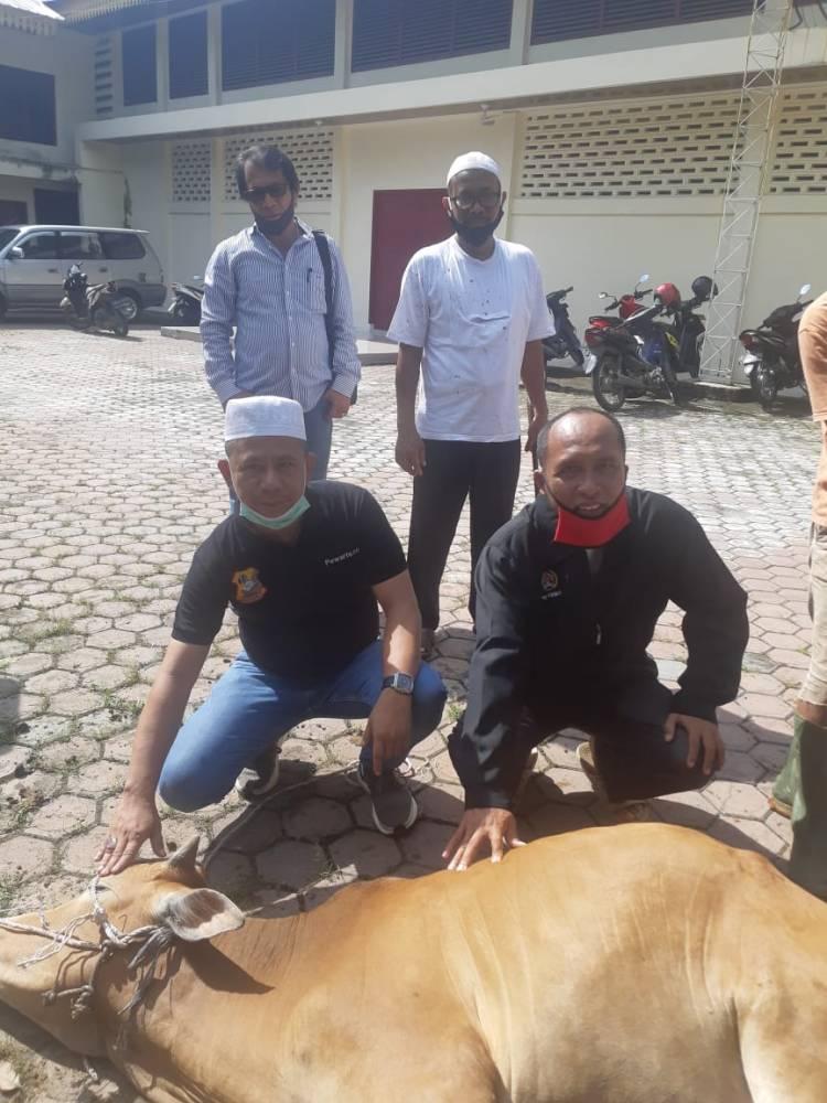 Rayakan Idul Adha 1441 Hijriah, Ketua Pewarta Polrestabes Medan Melaksanakan Kurban