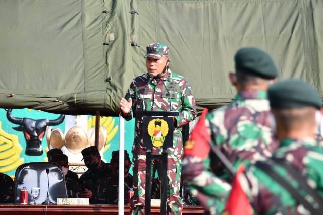 Kasum TNI Beri Pembekalan untuk Prajurit Yonif Raider 400/BR, Satgas Pamtas Adalah Kehormatan