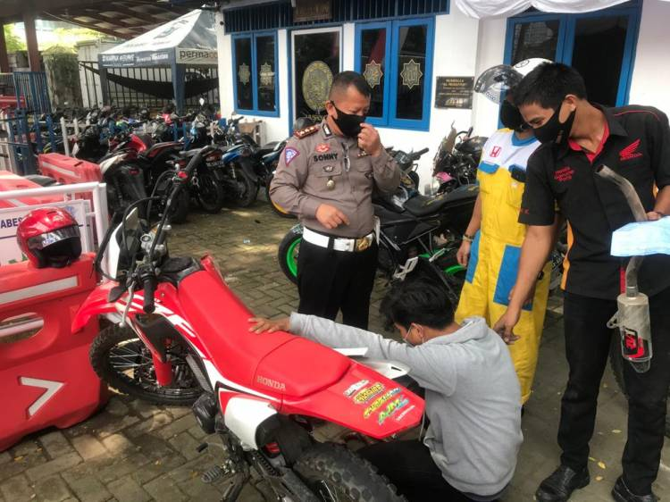 Satlantas Polrestabes Medan dalam Tempo Sepekan Tilang 148 Kendaraan Knalpot Blong