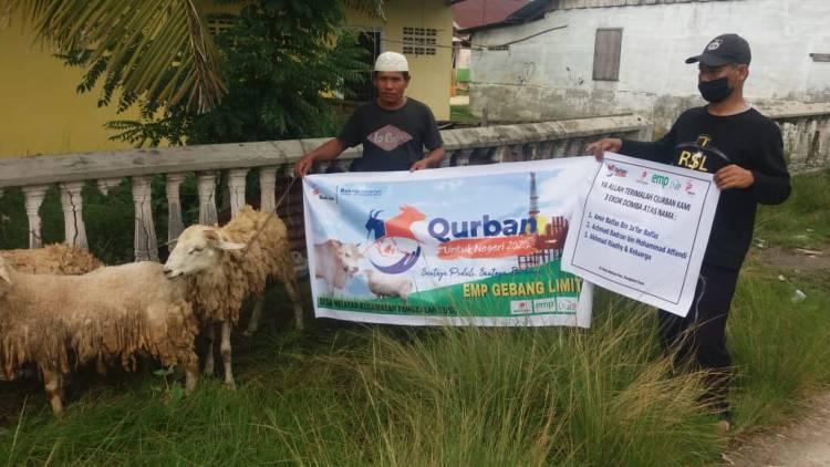 EMP Gebang Ltd Bagikan Hewan Qurban ke Masyarakat Kabupaten Langkat
