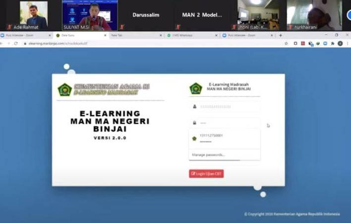 MAN Binjai Sukses Terapkan E-Learning, Jadi Contoh Bimtek E-Learning Kemenagsu